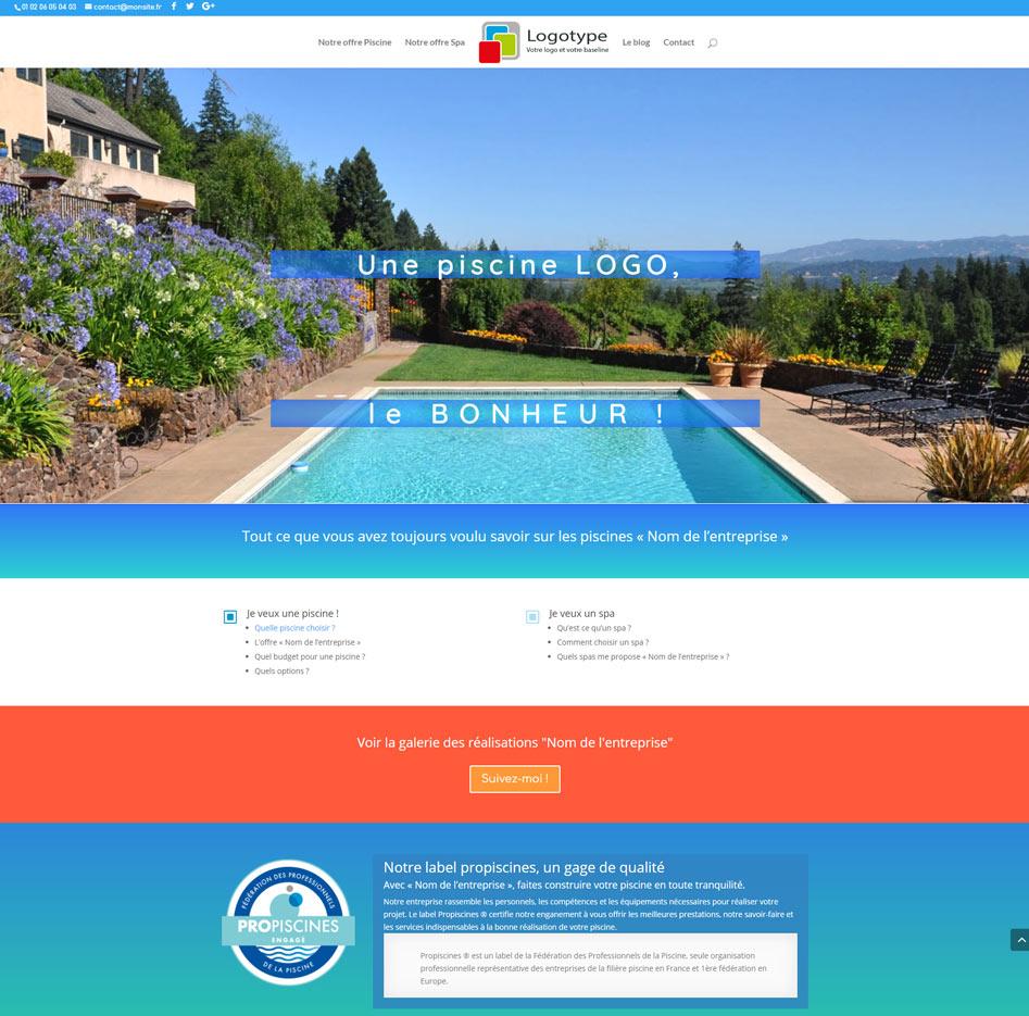 Beltys : créateur de sites vitrines pour les piscinistes
