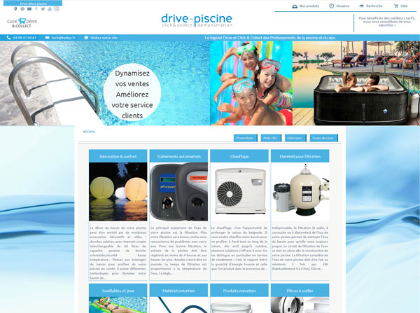Beltys propose une solution Drive - Click & Collect à l'usage des piscinistes.
